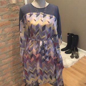 BCBGMaxazria Inesa scarf print dress ss small